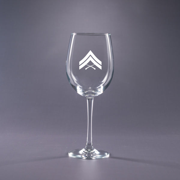 USMC Corporal-16 oz. Wine Glass Set