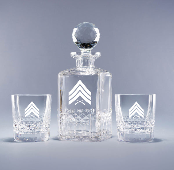 Genuine Crystal Decanter - USMC Sergeant (with free customization)