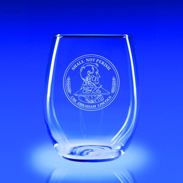 USS Abraham Lincoln - 21 oz. Stemless Wine Glass Set