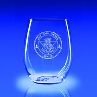 USS Carl Vinson - 21 oz. Stemless Wine Glass Set