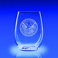 USS George Washington - 21 oz. Stemless Wine Glass Set