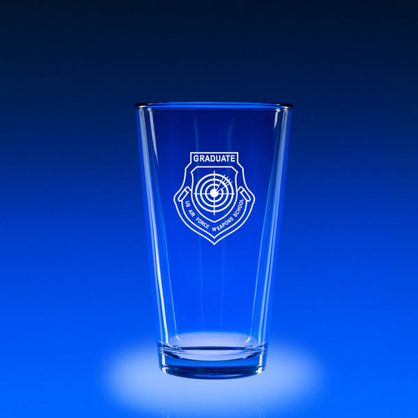 USAF Weapons School Graduate - 16 oz. Micro-Brew Glass Set