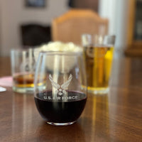 160th SOAR - 21 oz. Stemless Wine Glass Set