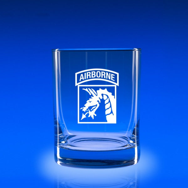 XVIII Airborne Corps - Deluxe Rocks Glass Set
