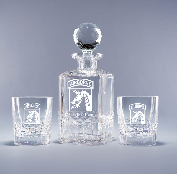 XVIII Airborne Corps - Genuine Crystal Decanter (with free customization)