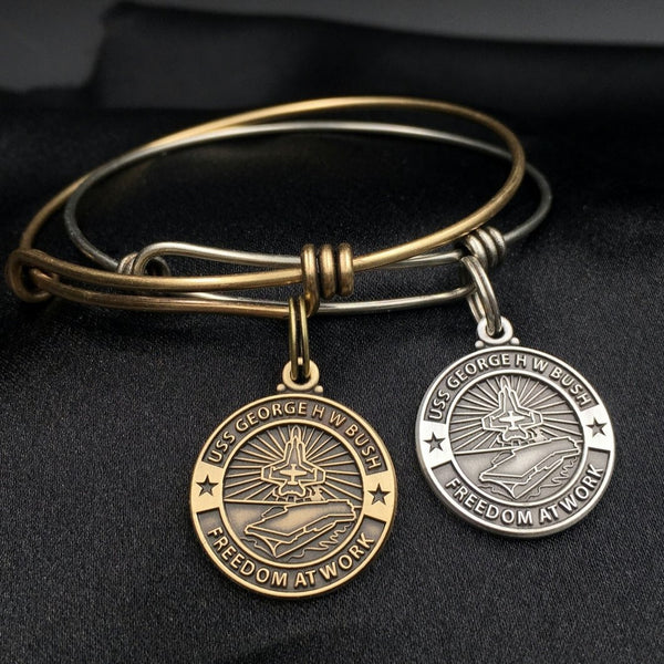 USS George H. W. Bush Bangle Bracelet