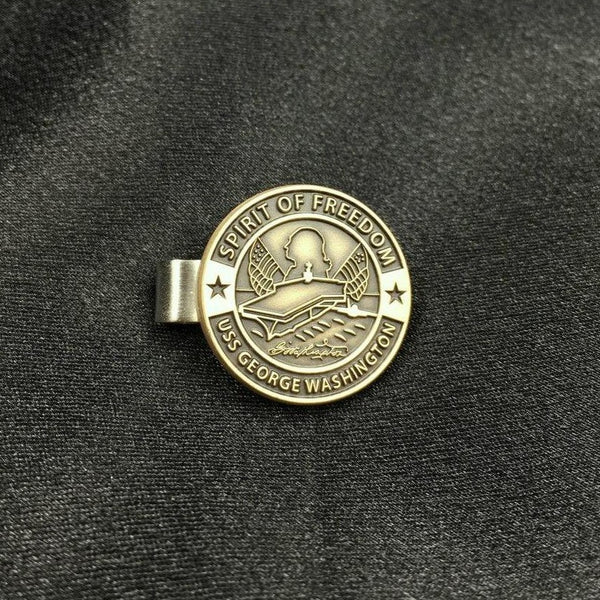 "USS George Washington Twotone 1"" Tie Clip"
