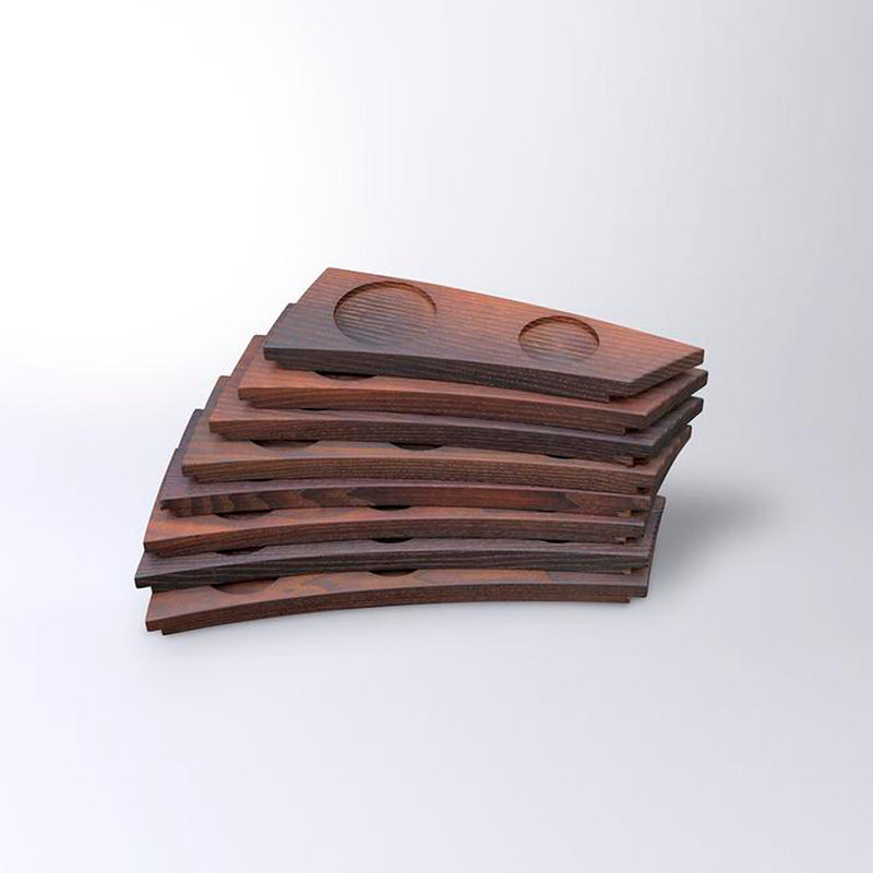 "Evä (""Fin"") serving tray 1–8, heat-treated ash wood"
