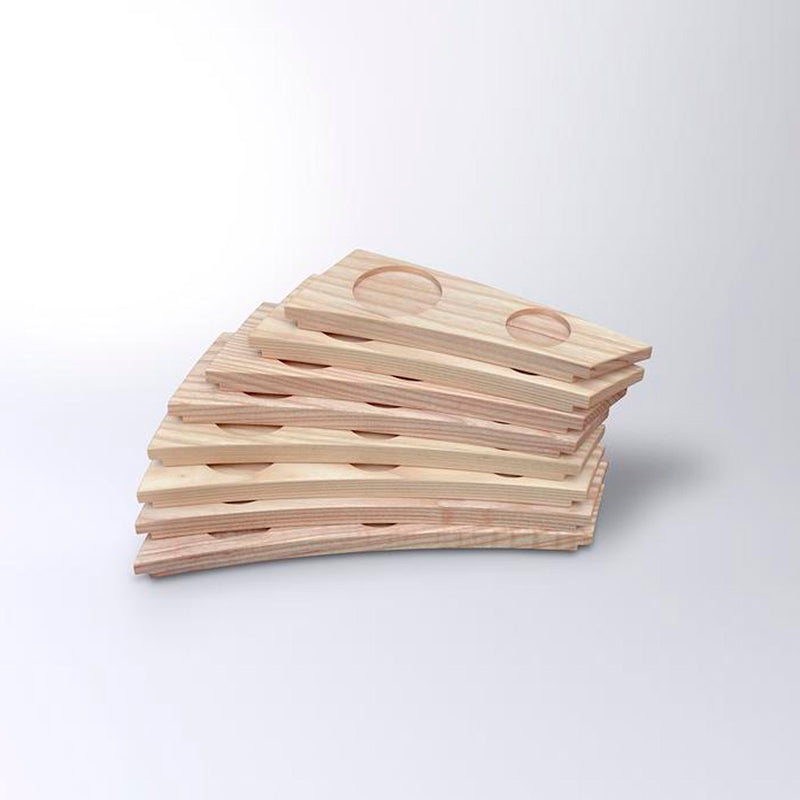 "Evä (""Fin"") serving tray 1–8, ash wood"