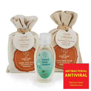 The Camel Soap Factory Hand Sanitizer Pack – ROSEMARY & TEA TREE