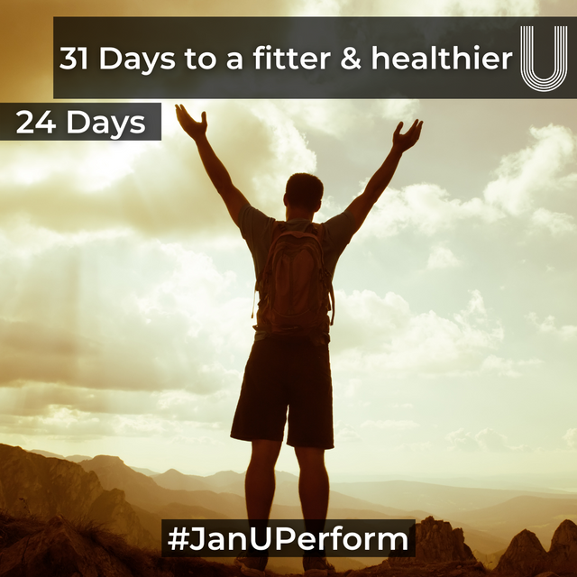 31 Days to a Fitter & Healthier U - Your 24 Day Check In