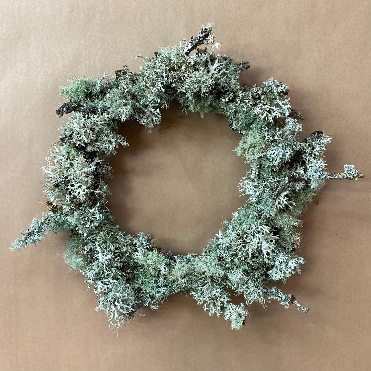 One-of-a-kind Lichen Twig Wreath