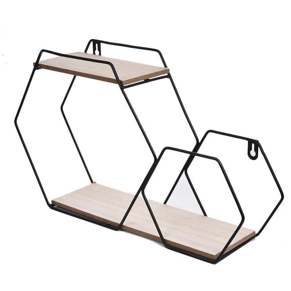Iron Grid Wall Shelf