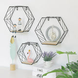 Hexagonal Grid Wall Shelf