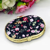 Compact Pocket Floral Mirror