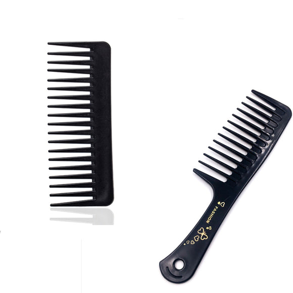 Black Wide Tooth Comb