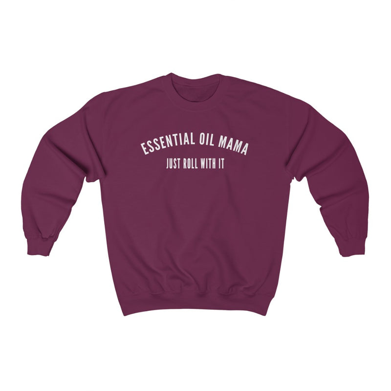 Essential Oil Mama Just Roll With It Unisex Heavy Blend™ Crewneck Sweatshirt - cottonwoodbloomco
