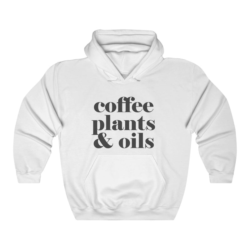 Coffee Plants & Oils Unisex Heavy Blend™ Hooded Sweatshirt - cottonwoodbloomco