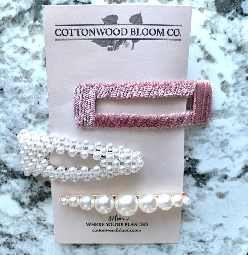 3 Pc Fashion Hair Accessories Set - cottonwoodbloomco