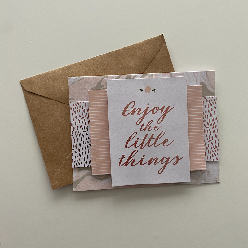 'Enjoy The Little Things' Handmade Card - cottonwoodbloomco