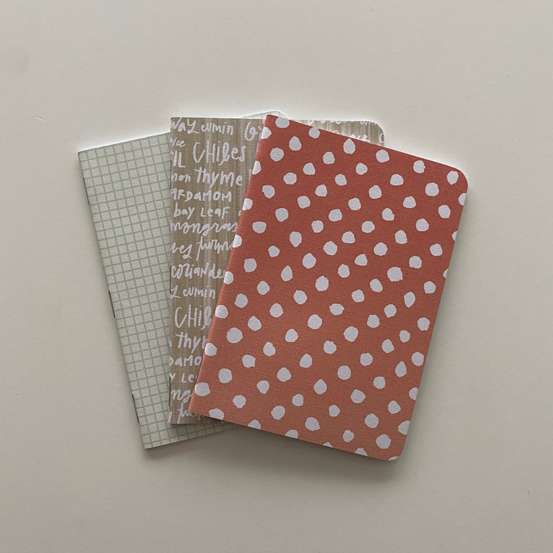Handmade 3-Pack Notebooks - cottonwoodbloomco