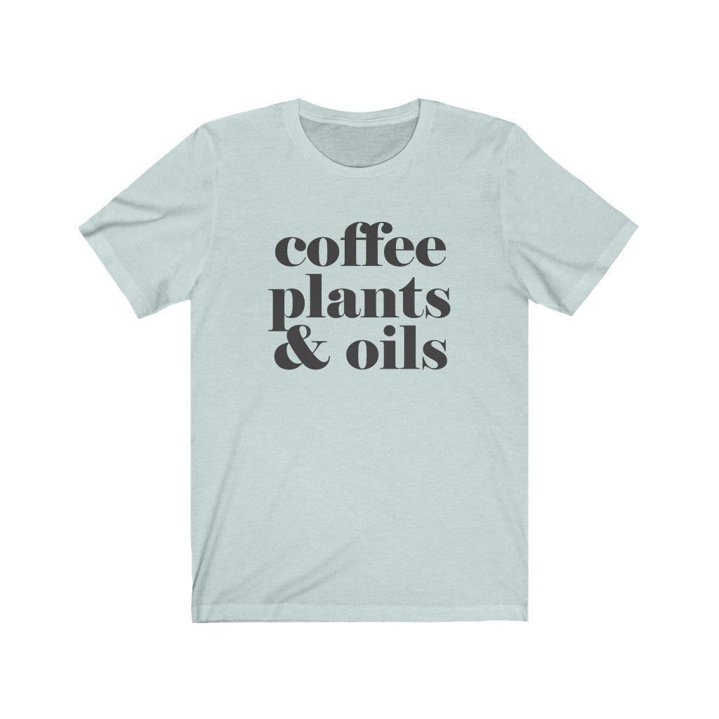 Coffee Plants & Oils Bold T-Shirt - cottonwoodbloomco