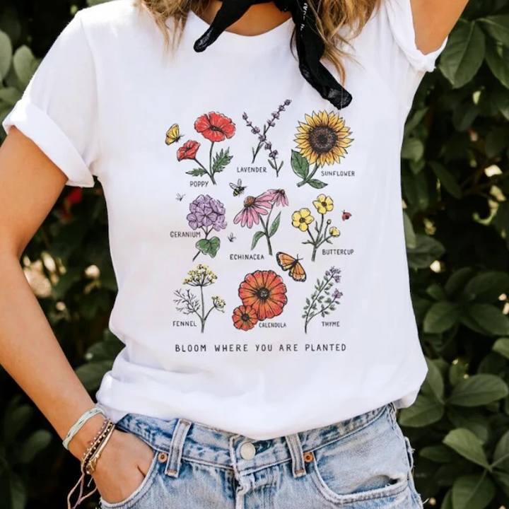 """Bloom"" Tee - cottonwoodbloomco"