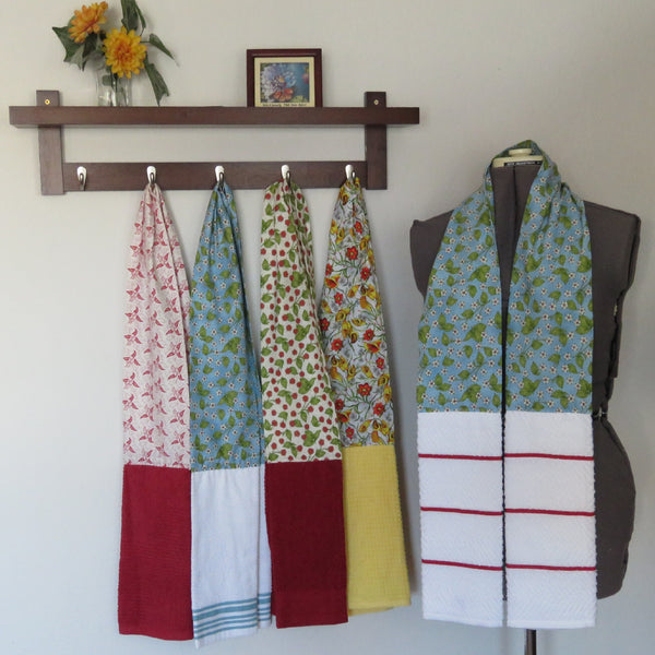 Kitchen Scarf and Wearable Towels - Flower & Vine Prints