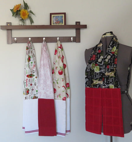 Kitchen Scarf and Wearable Towels - Food & Recipe Prints