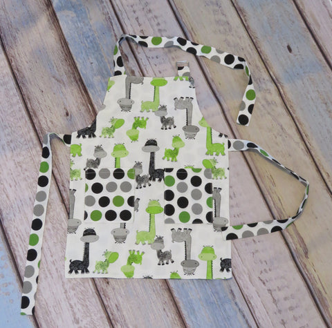 Children's Apron - Whimsical Dinosaurs Print