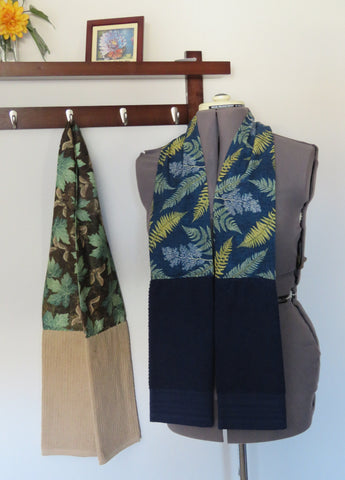 Kitchen Scarf and Wearable Towels - Autumn Leaves Prints