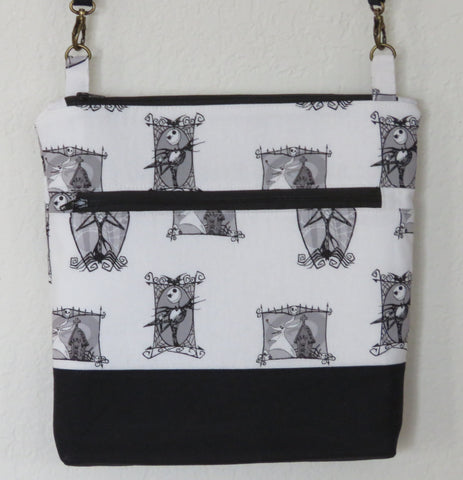 Nightmare Before Christmas Crossbody Purses with Adjustable Strap - Jack & Zero Picture Frames
