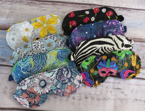 Sleep Masks in 100% Cotton, Soft Flannel, and Covered Elastic