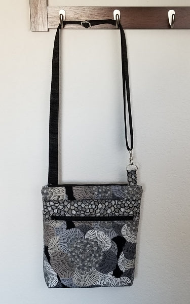Large Floral Print Crossbody Bag