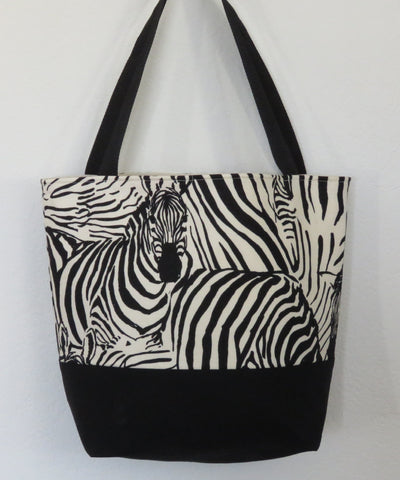 Zebra Animal Print Tote Bag Purse