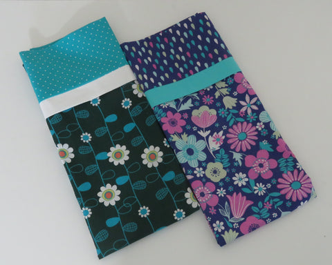 Bright Colored Floral Standard Pillowcases