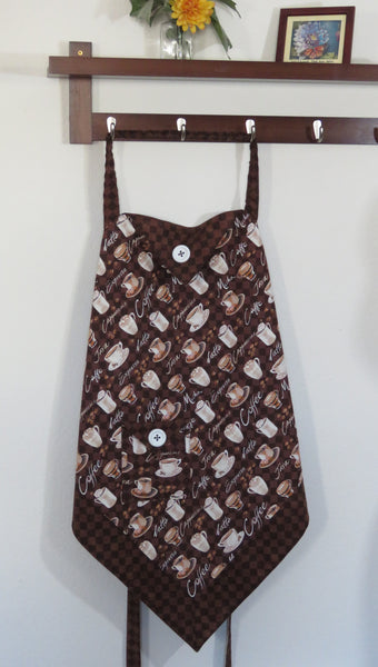 Women's Apron - Coffee Cups