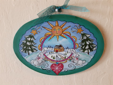 Small Winter Fun Plaque