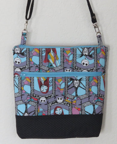 Nightmare Before Christmas Crossbody Purses with Adjustable Strap - Stained Glass