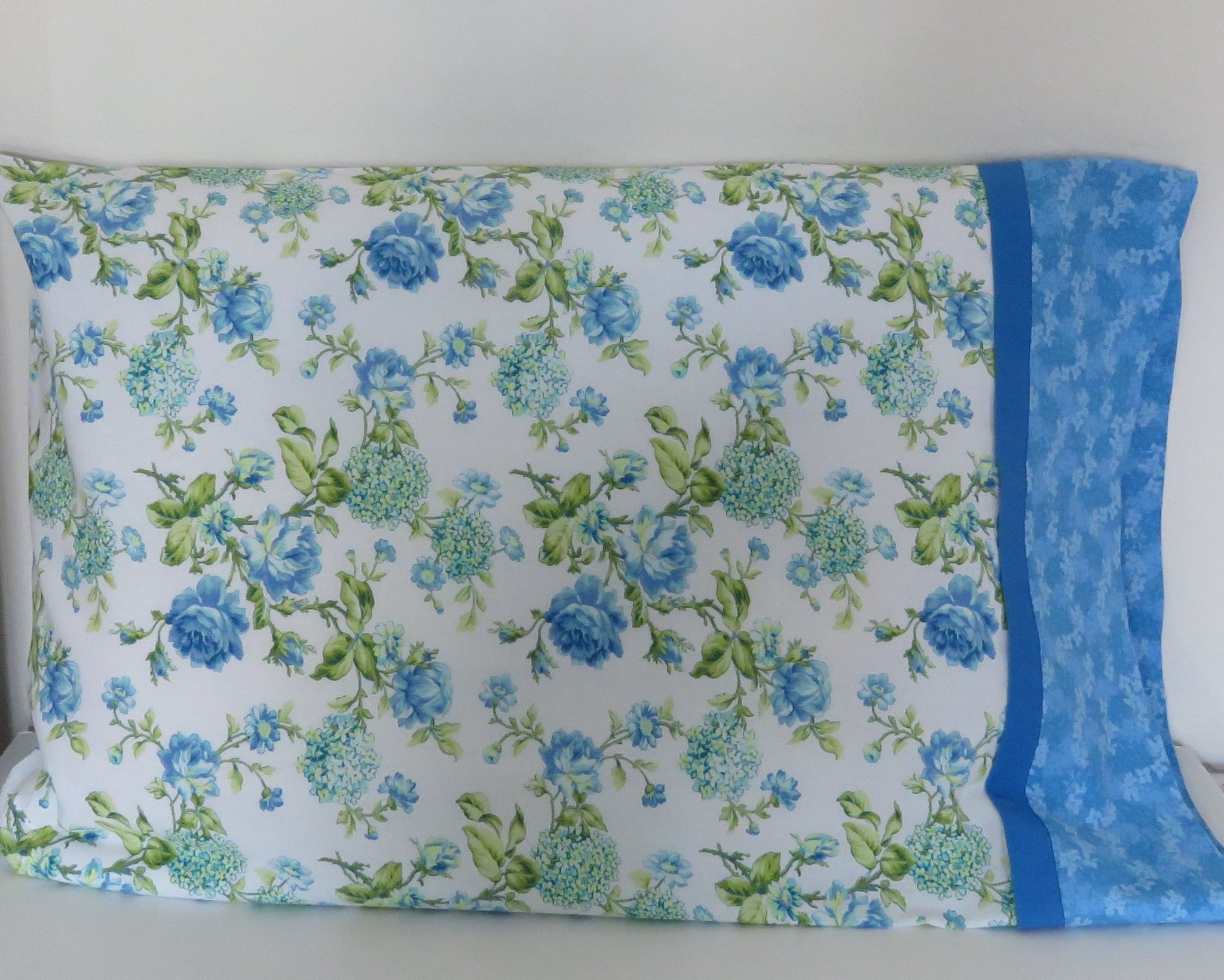 Floral and Bird Print Standard Pillowcases