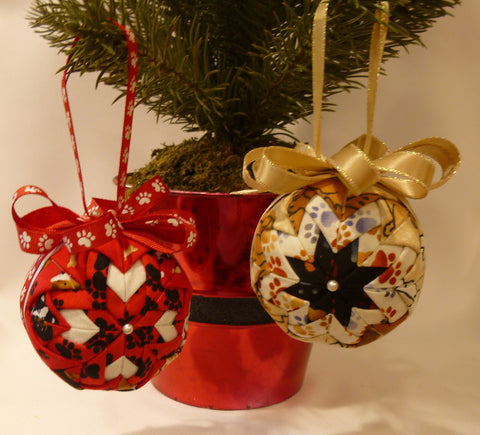 Dog Printed Fabric Ornaments