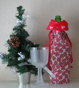 Christmas Bottle Gift Bag - Mint Candy