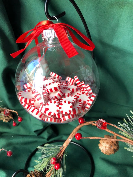 Round Peppermint Candy Pieces Ornament