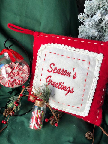 Season's Greetings Pillow