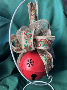 Red Jingle Bell with Festive Ribbon