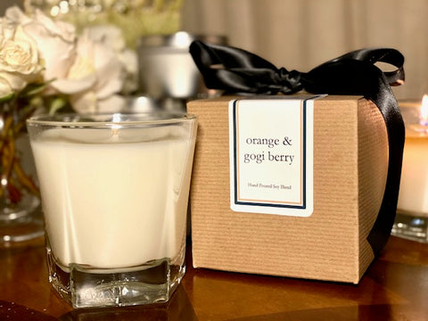 Orange & Gogi Berry Scented Soy Wax Candle