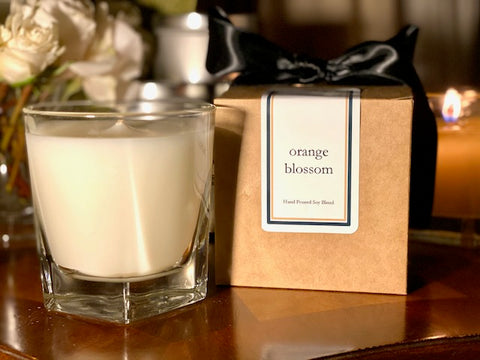 Orange Blossom Scented Soy Wax Candle