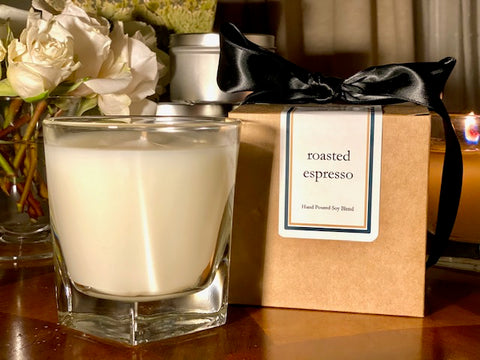 Roasted Espresso Scented Soy Wax Candle