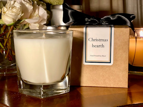 Christmas Hearth Scented Soy Wax Candle