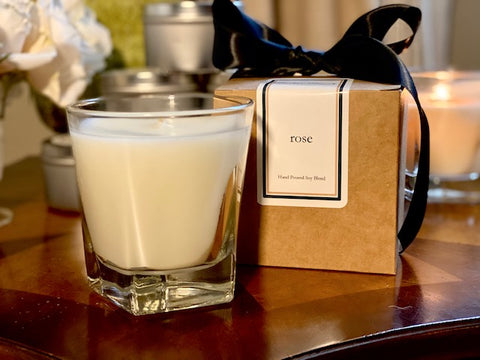 Rose Scented Soy Wax Candle